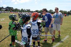 Post-victory handshake line, #33 and shutdown defense held opponent to 1 goal. Garden City, Long Island, June 2014. #lacrosse #2023 #mamaroneck #westtwins