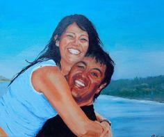 Oil. Double portrait