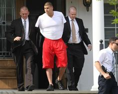 oh, Aaron - this is seriously depressing. He was let go by the Patriots - this SUCKS :( New England Patriots tight end Aaron Hernandez was arrested and led out of his home in handcuffs, shortly before 9 a. Smith And Wesson Revolvers, Tight End, Patriots Football, New England Patriots, Sports News, Nfl News, Super Bowl, Pants, True Crime
