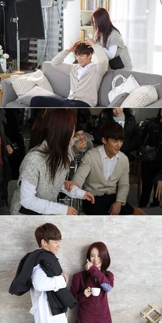 Song Ji Hyo and Choi Jin Hyuk show some playful skinship in BTS photos for 'ER Man and Woman'  ♡~