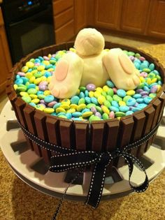 Default - A Easter Bunny cake, LMAO!! Easy cake for those not that creative with cake decorating.
