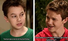 Connor seemed so insulted when he thought the cupcake delivery girl knew judes bday before him lol! It almost like he is in disbelief lol!