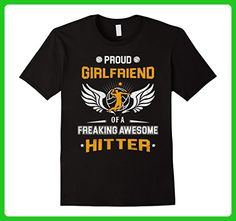 Mens Volleyball Girlfriend Shirt Funny Proud Girlfriend Of Hitter Small Black - Sports shirts (*Amazon Partner-Link)