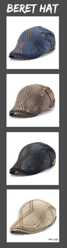 US$9.99+Free shipping. Men's Cap, Men's Fashion, Beret Hat, Golf Hat, Baseball Hat, Cabbie Hat. Soft, Adjustable, Breathable. Color: Navy, Beige, Coffee, Black, Army Green, Grey.