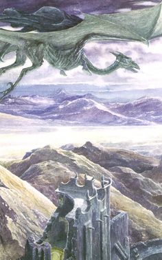 Alan Lee's Lord of the Rings Artwork / Wraiths.  Wraiths on Wings....