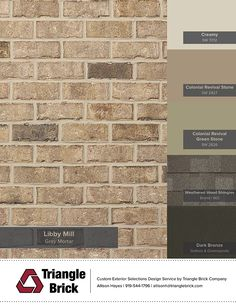 Introducing the Libby Mill New in Spring Brown Brick Exterior, Brown Brick Houses, House Exterior Color Schemes, Exterior Paint Colors For House, Exterior Colors, Brick Companies, Shutter Colors, Light Brick, Painted Front Doors