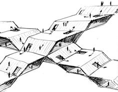 buildings should be all about ramps, slopes and angles, wall-free where possible; space should predominate over surface.  image taken from 'functioning the oblique', claude parent / paul virilio 'we are in front of the imperious necessity to accept as an historical fact, the end of verticality as an elevation axis, the end of horizontality as a permanent plan, in the benefit of oblique axis and lean plan  which achieve all the needed conditions to create a new urban order, and which also…