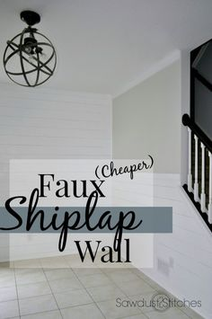 Faux Shiplap Walls - Sawdust 2 Stitches