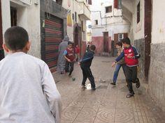 Neighborhood Alley in Cablanca, Morocco