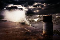 """""""The sea was angry that day."""" Lake Mendota, WI."""
