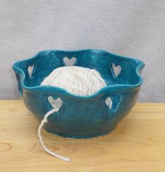 Yarn bowl knitting or crochet handthrown pottery ceramic www.misi.co.uk/gifts/97464