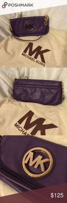 """Authentic Michael Kors Bag Gorgeous Plum color! Excellent condition. Used one time. Comes with duster. 100% authentic. Approx. 11"""" X 6"""" handle drop 9"""". Trade Value $100 MICHAEL Michael Kors Bags Shoulder Bags"""