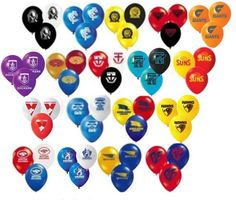 AFL Latex Balloons 3 for $2 - All teams available - Suitable for Helium Fill