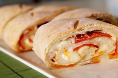 Cheesy Pepperoni Bread by singfoyoursupper as adapted from browneyedbaker: Serve it with marinara sauce for dipping! #Snacks #Pepperoni_Bread #singforyoursupper