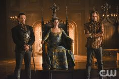 """Reign -- """"Dead of Night"""" -- Image Number: RE411b_0632.jpg -- Pictured (L-R): Adam Croasdell as Bothwell, Adelaide Kane as Mary, Queen of Scots and  Andrew Shaver as Rizzio -- Photo: John Medland/The CW -- © 2017 The CW Network, LLC. All Rights Reserved"""