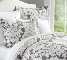 Damask Duvet Cover & Shams #potterybarn