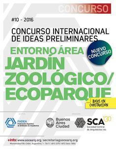 SCA | ENTORNO ÁREA JARDÍN ZOOLÓGICO - ECOPARQUE  La Sociedad Central de Arquitectos junto el Ministerio de Modernización, Innovación y Tecnología de la Ciudad Autónoma de Buenos Aires, abren la inscripción al Concurso Internacional de Ideas preliminares para el área del Jardín Zoológico, de la Ciudad de Buenos Aires, y su entorno.  Fecha de cierre y entrega: 30 de noviembre de 2016.  Más info: http://ly.cpau.org/2drbARp  #AgendaCPAU #RecomendadoARQ #Concursos