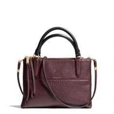 Pure #Awesomeness #Coach #Handbags The The Mini Borough Bag In Pebbled Leather from Coach
