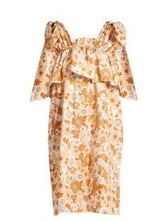 CHLOÉ Ruffled-Tier Floral-Print Cotton Dress. #chloé #cloth #dress