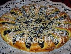 Švestkový koláč s mandlemi Cheesesteak, Pie, Treats, Sweet, Ethnic Recipes, Desserts, Food, Torte, Sweet Like Candy