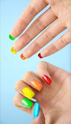 rainbow double-sided nails | easy nailart @Rclbeauty101