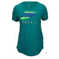 Nike Dri-FIT Dri-Blend Graphic Running T-Shirt - Women's - Green / Light Green