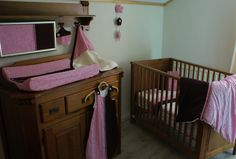 Prachtige baby bed set #Roze-Paars & kant.