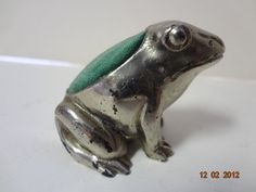 Antique German Germany Silver Frog Sewing Notion Pin Cushion | eBay