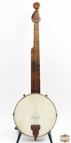 Another fine minstrel banjo from the bench of James Hartel, of Franklin NY. Banjo, Ukulele, Violin, Old Musical Instruments, Double Bass, Alternative Music, Epiphone, Sound Of Music, Instrumental