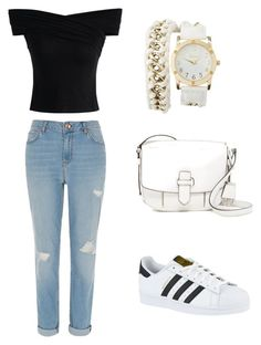 """5"" by mercieine ❤ liked on Polyvore featuring River Island, Chicwish, adidas, Charlotte Russe and MICHAEL Michael Kors"