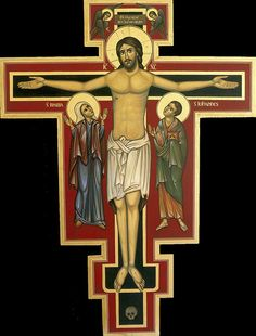Religious Icons, Religious Art, Religious Images, San Damian, Roman Church, Images Of Mary, Russian Icons, Religious Paintings, The Cross Of Christ