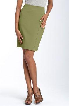 701e7dbe3f Nordstrom Halogen Seamed Pencil Skirt Green Moss size 4 1044