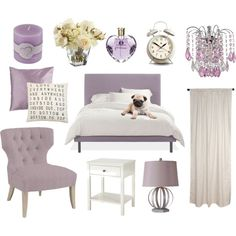purple modern teenage bedroom