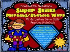 $5 Super Skills Morning/Station Work (Kindergarten Basic Skil