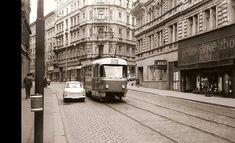 Husitská Retro, Czech Republic, Old Photos, Most Beautiful Pictures, Transportation, Street View, Europe, Prague Transport, City