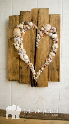Seashell Art, Seashell Crafts, Beach Crafts, Fun Crafts, Diy And Crafts, Arts And Crafts, Seashell Wedding, Crafts With Seashells, Seashell Decorations