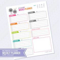 Wekelijkse planner Hello Cuteness | via hellocuteness.com