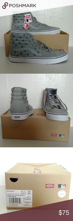 NWT Vans New York Yankees SK8-Hi (MLB) Show your team spirit and support your favorite team.  Go Yankees!!! Unisex: M 6.5/W 8.00 Vans Shoes Sneakers