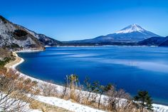 Lake Motosu White Line