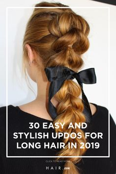 Long hair has lots of options for stylish updos for Here are some ideas for long haired ladies. Loreal, Updos, Hair And Nails, Hair Beauty, Long Hair Styles, Stylish, Lady, Ideas, Up Dos