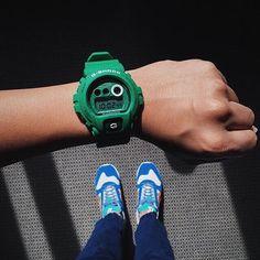 G-Shock Heathered Color Series in Green | : @onealz | Model No: GD-X6900HT-3 | #gshock #wristshot