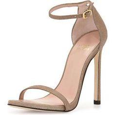 Stuart Weitzman Nudist Sandals as seen on Ciara