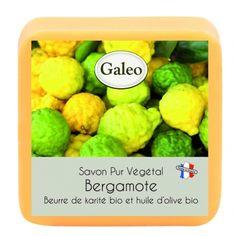 CouleurTropiques,savon Galeo parfum bergamote, 100g de bonheur