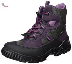 Ecco Snowboarder, Bottes de Neige Fille, Violet (Black/Night Shade/Slate), 29 EU - Chaussures ecco (*Partner-Link)