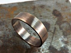 elegant bronze ring rustic wedding ring 4mm or 5mm wide ring band mens ring modern ring oxidized matte finish from CrazyAss Jewelry Designs.