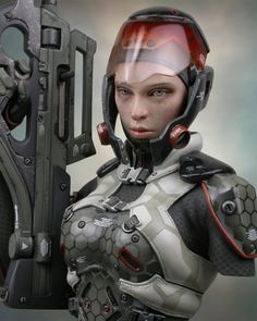 Hush - spec ops female 1/6 Scale Model by Chris Clayton