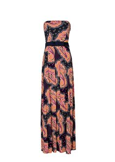 MANGO - PRENDAS - Vestido largo estampado paisley