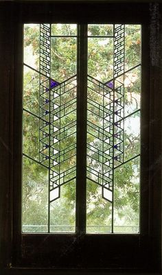 spacetrvlr: Frank Lloyd Wright - HollyHockHouse- Stained glass windows at its best!