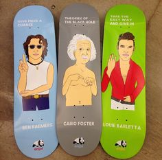 "enjoi decks ""Give PIECE a chance"" or ""Theories of the blackhole"""