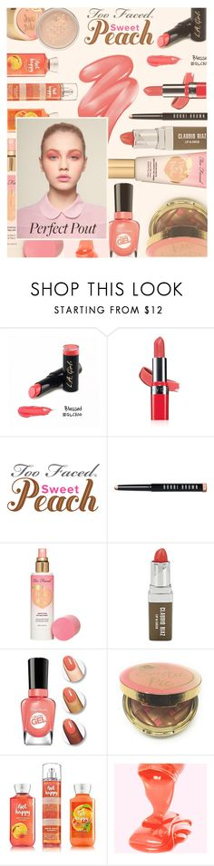 """""""She's a Peach: Peach Lipstick"""" by zayngirl1dlove ❤ liked on Polyvore featuring beauty, Avon, Bobbi Brown Cosmetics, Too Faced Cosmetics, Claudio Riaz, Clinique and peachlipstick"""